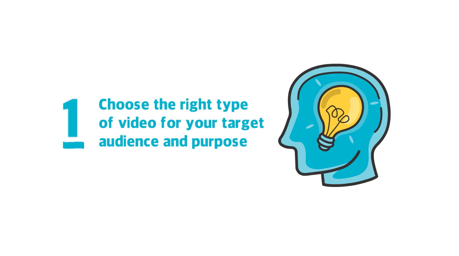 Choose the right type of video for your target audience and purpose