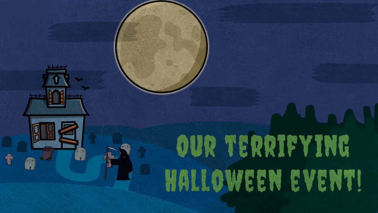 Halloween event invite video template from VideoScribe