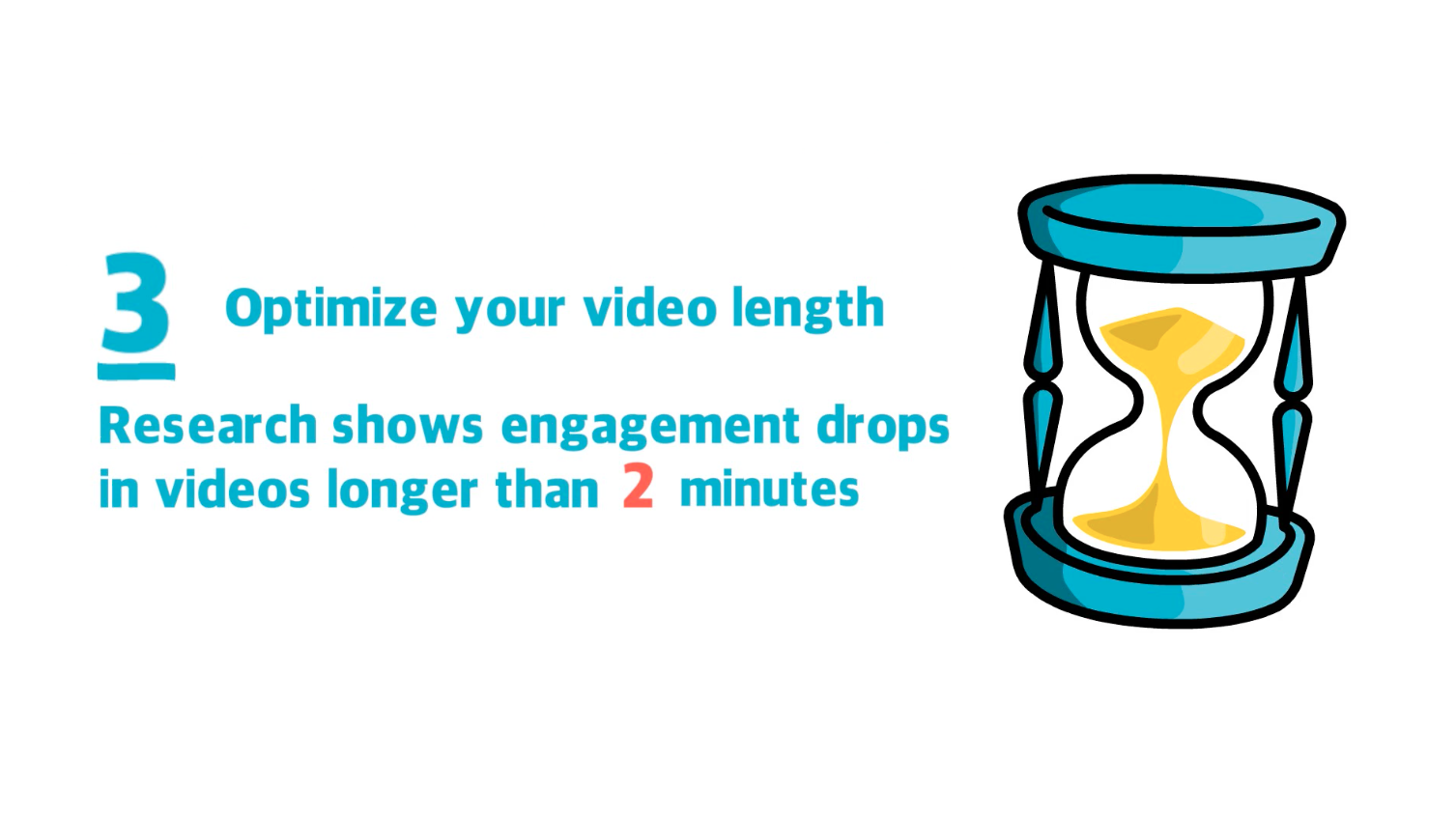 For improved video results optimize the length of your video for your audience and platform