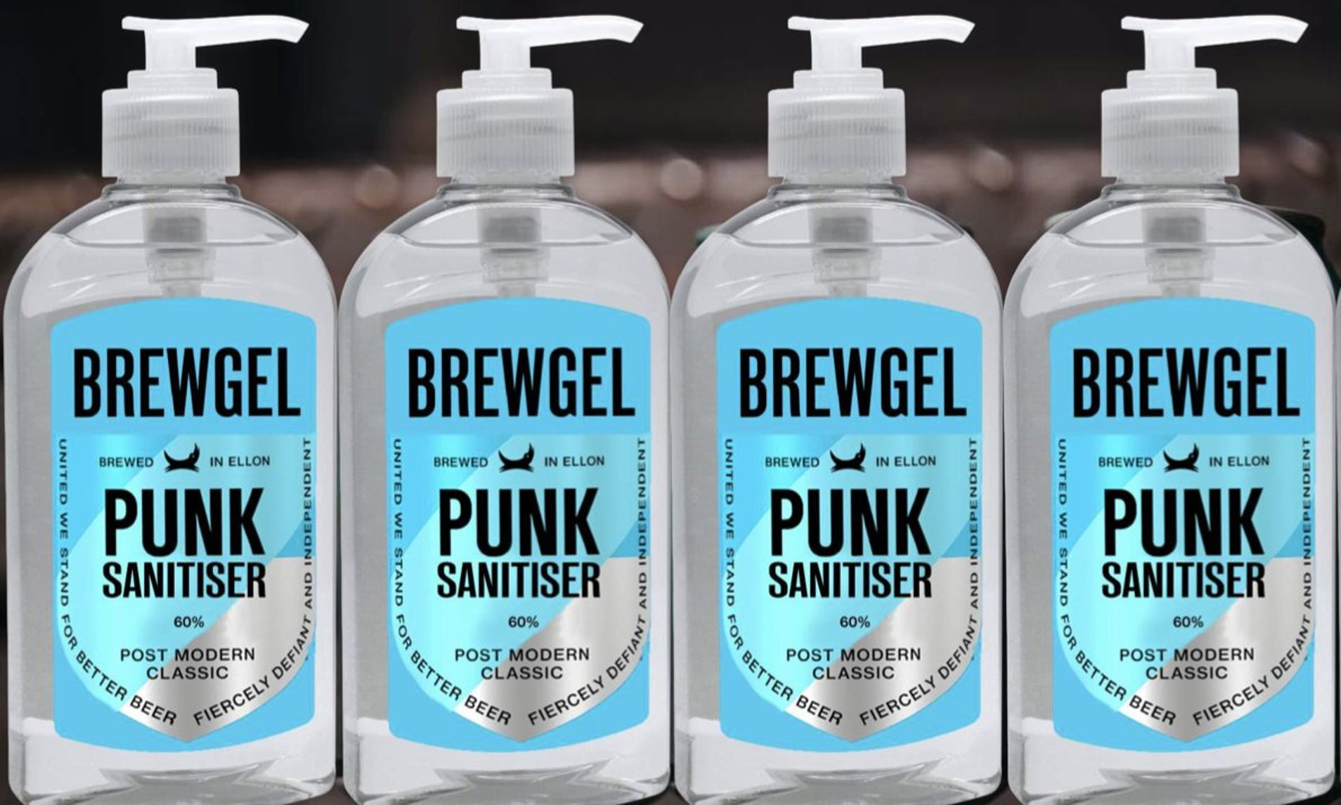 BrewDog hand sanitiser packaging