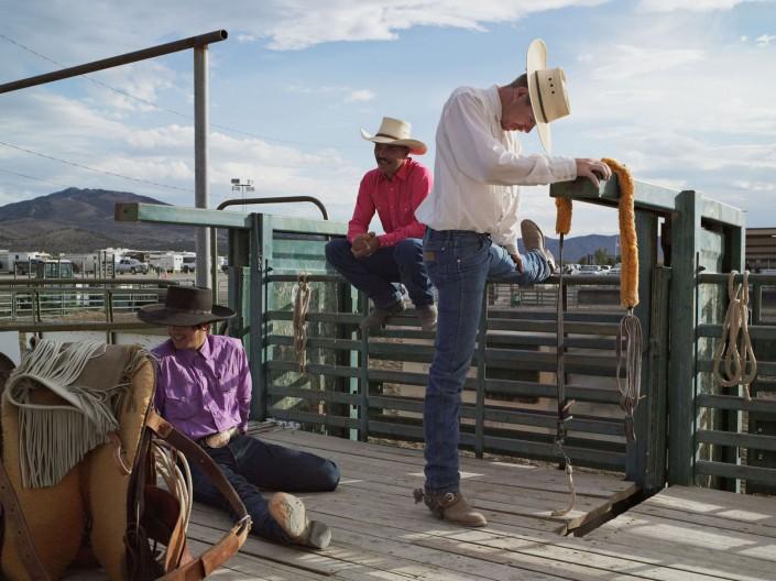 Dakota, Michael, and Jesse, Bronc Riders, Eureka County Fair, Eureka, Nevada 2012